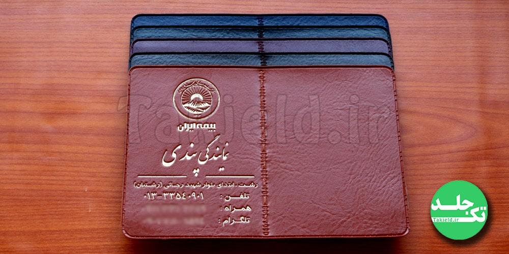 جلد بیمه نامه ثالث ایران پندی تک جلد