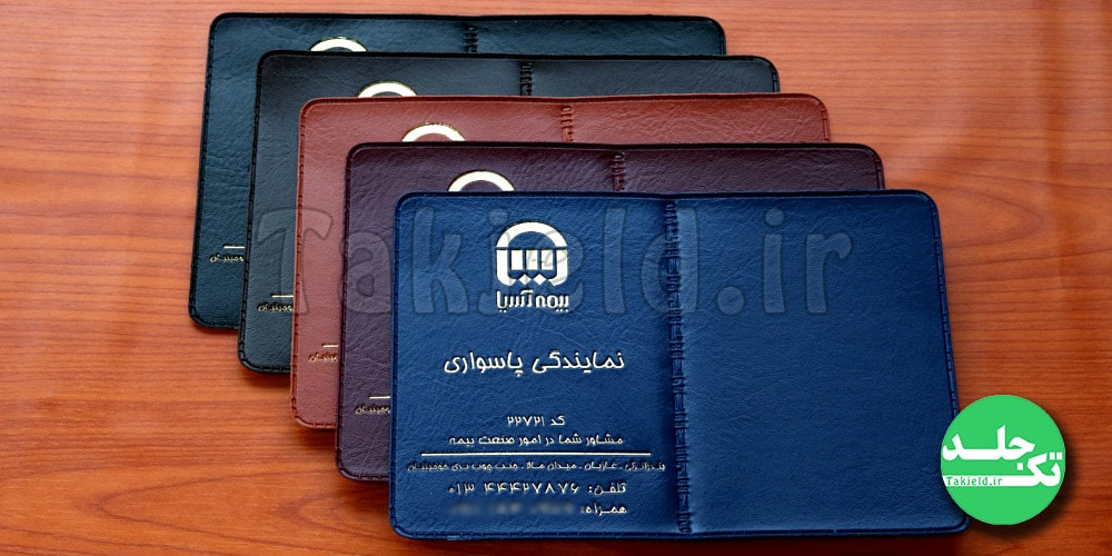 جلد بیمه نامه ثالث بیمه آسیا نمایندگی پاسواری تک جلد ماموت